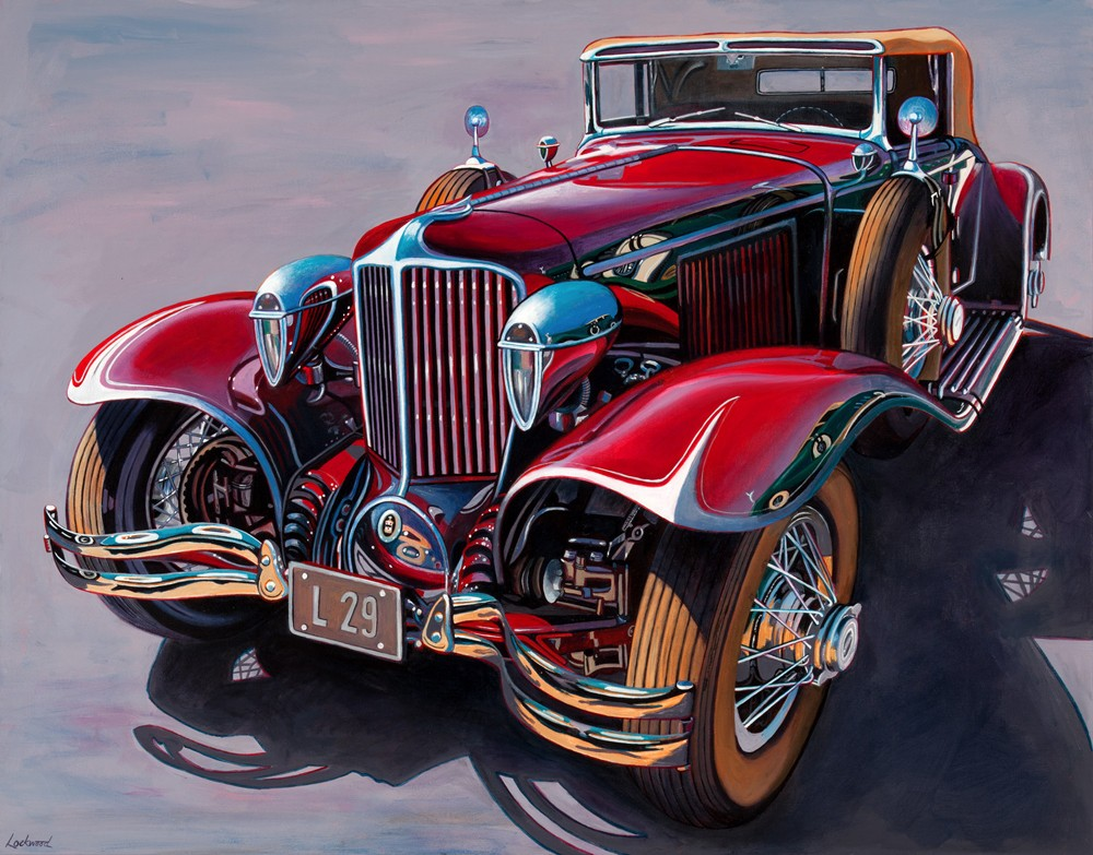 car art prints auburn cord duesenberg original art